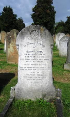 Stephen and Sarah Cook Grave