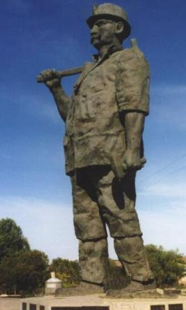 Statue to The Cornish Miner