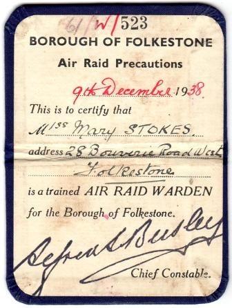 The ARP Certificate of Mary Stokes