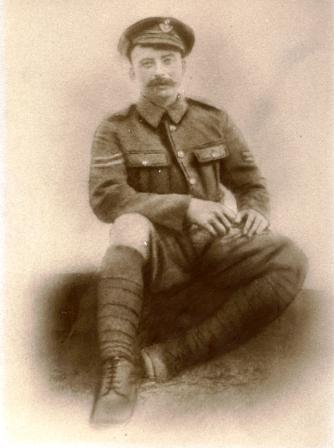 Reginald Riddalls, the Trenches WW1